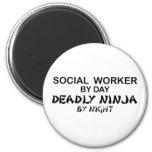 Social Worker Deadly Ninja Fridge Magnets