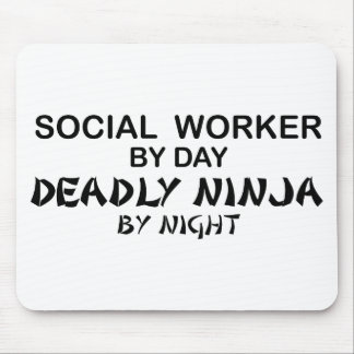 Social Worker Deadly Ninja Mouse Pad