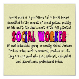 Social Worker Definition Art Poster