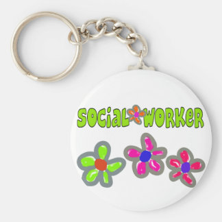 Social Worker Gifts Basic Round Button Key Ring
