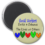 Social Worker Gifts Refrigerator Magnets