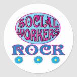 Social Worker Gifts Round Stickers