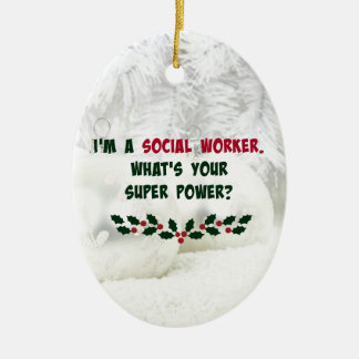 Social Worker Humor, Holiday Colors Christmas Ornament