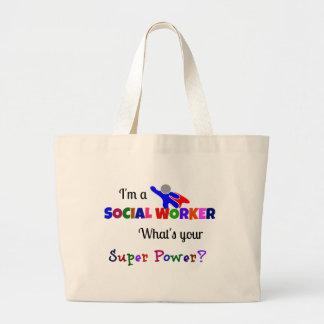 Social Worker Humor Jumbo Tote Bag