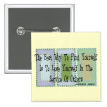 Social Worker (Mahandas Gandhi Quote) 15 Cm Square Badge