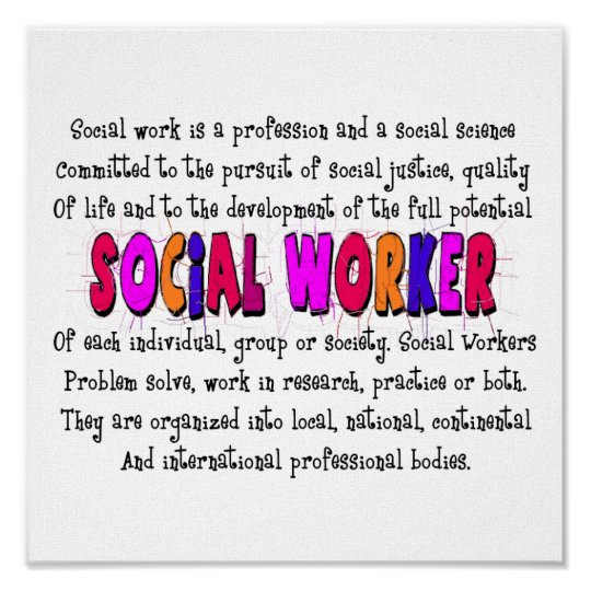 Social Worker Poster Art Print ~~Definition~~