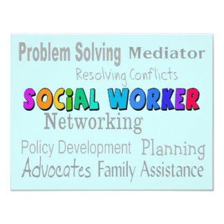 Social Worker Professional Duties Design 11 Cm X 14 Cm Invitation Card