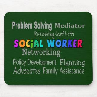 Social Worker Professional Duties Design Mouse Mat