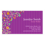 Social Worker - Purple Nature Theme Business Cards