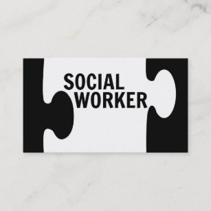 Social work business cards zazzle uk social worker puzzle piece business card colourmoves