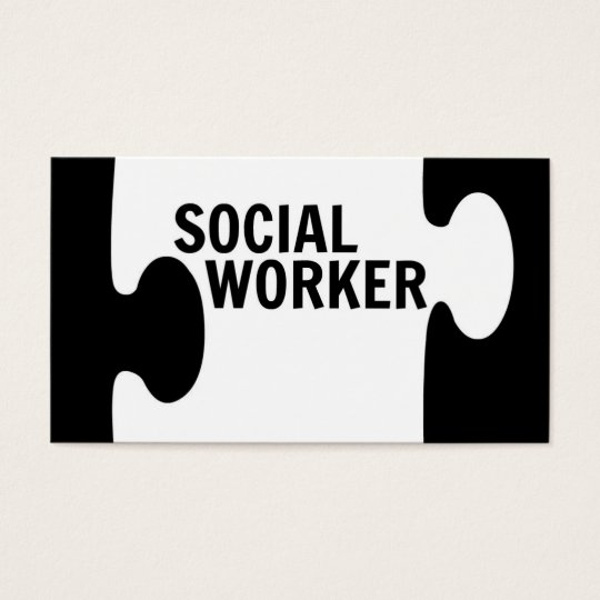 Social Worker Puzzle Piece Business Card