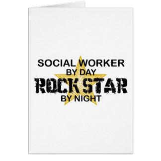 Social Worker Rock Star by Night Card