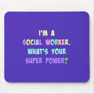 Social Worker Super Power Mouse Mat