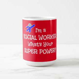 Social Worker Superhero Basic White Mug