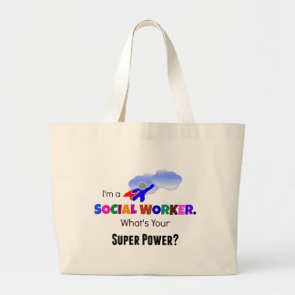Social Worker Superhero Jumbo Tote Bag