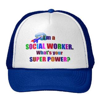 Social Worker Superhero with Calendar Cap