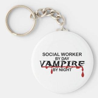 Social Worker Vampire by Night Key Ring