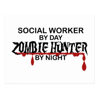 Social Worker Zombie Hunter Postcard