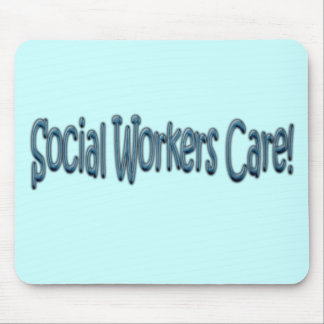 Social Workers Care! Mouse Mat
