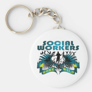 Social Workers Gone Wild Basic Round Button Key Ring