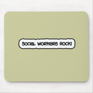 Social Workers Rock! Mouse Mat