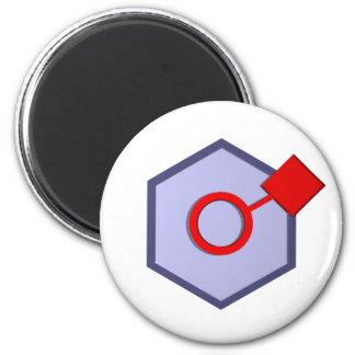 Socialiser 6 Cm Round Magnet