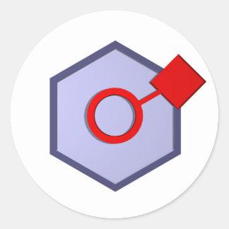Socialiser Round Sticker