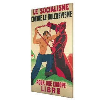 Socialism Against Bolshevism for a Free Canvas Print