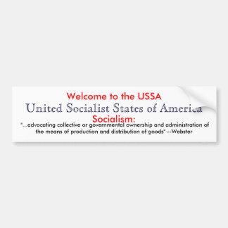 Socialism definition bumper sticker