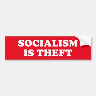 Socialism is Theft Bumper Sticker
