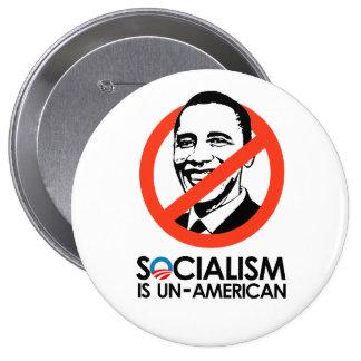Socialism is un-American 10 Cm Round Badge