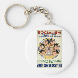 Socialism means Inspectors all round Basic Round Button Key Ring