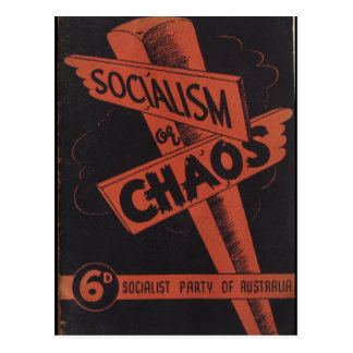 Socialism or Chaos Postcard
