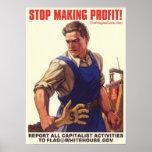 Socialism - Stop Making Profit: Protest Poster