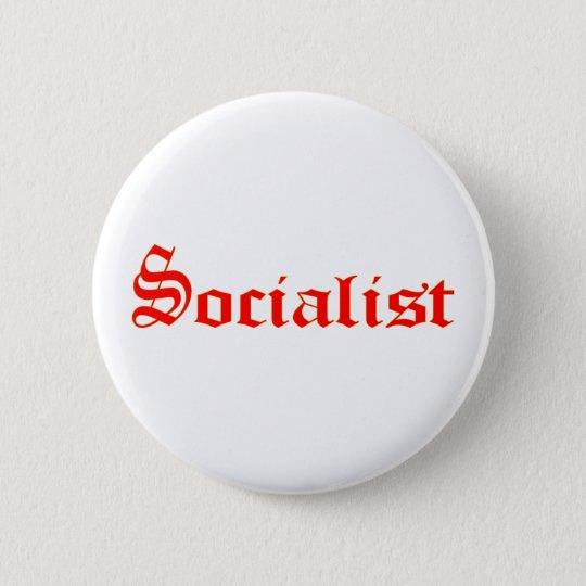 Socialist 6 Cm Round Badge