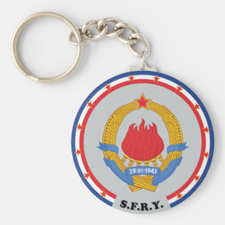 Socialist Federal Republic of Yugoslavia Emblem Basic Round Button Key Ring