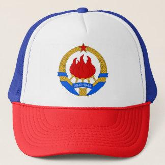 Socialist Federal Republic of Yugoslavia Emblem Trucker Hat