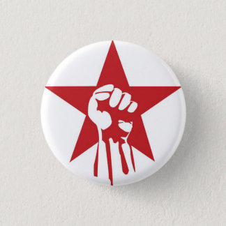 Socialist Fist Button