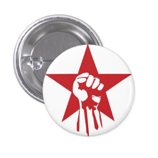 Socialist Fist Button