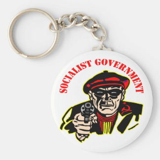 Socialist Government Is A Thief Robber Key Chain