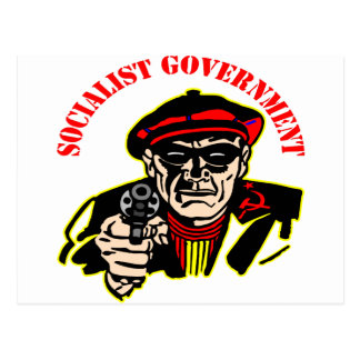 Socialist Government Is A Thief Robber Postcard