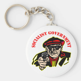 Socialist Government = Stinking Thief Basic Round Button Key Ring