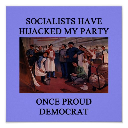socialist hijack the democratic party poster