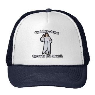 Socialist Jesus Spreads the Wealth Trucker Hats