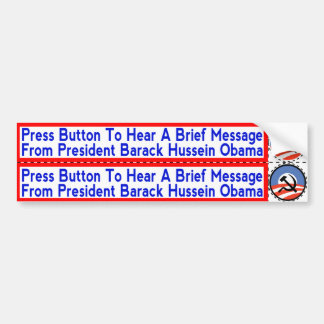 Socialist Obama Stickers to apply to Hand-Dryers Bumper Sticker