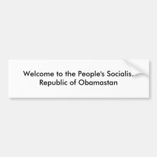 Socialist Obamastan Bumper Sticker