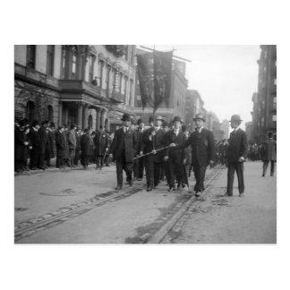 Socialist Parade, NYC: 1908 Postcard