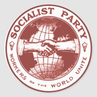 Socialist Party of America Round Sticker