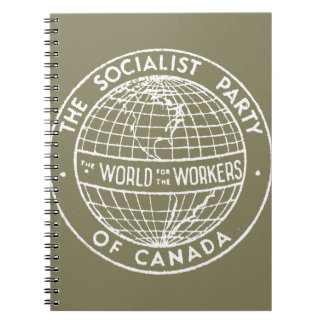 Socialist Party of Canada beige notebook
