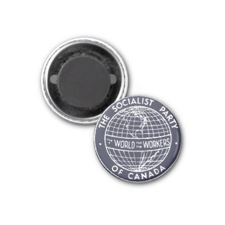Socialist Party of Canada small navy blue magnet